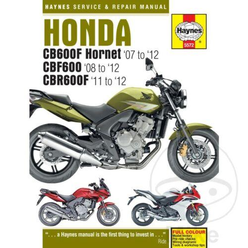 Honda CBF 600 N 2009 Haynes Service Repair Manual 5572