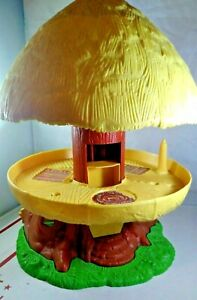 Vintage-Kenner-Star-Wars-Ewok-Village-Treehouse-Tree-House-Hut-Playset-1984-READ