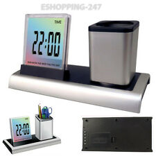 New Time Date Desktop Temperature Office Supplies Digital Music LCD Alarm Clock