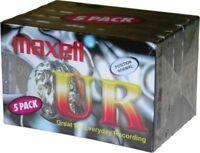 5 Maxell Audiokassetten 90 Minuten Ur-90