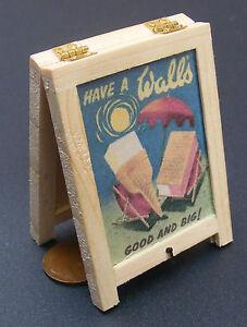 1:12 Scale Ales Beer Advertising Tumdee Dolls House Pub Bar Sandwich Board Sign