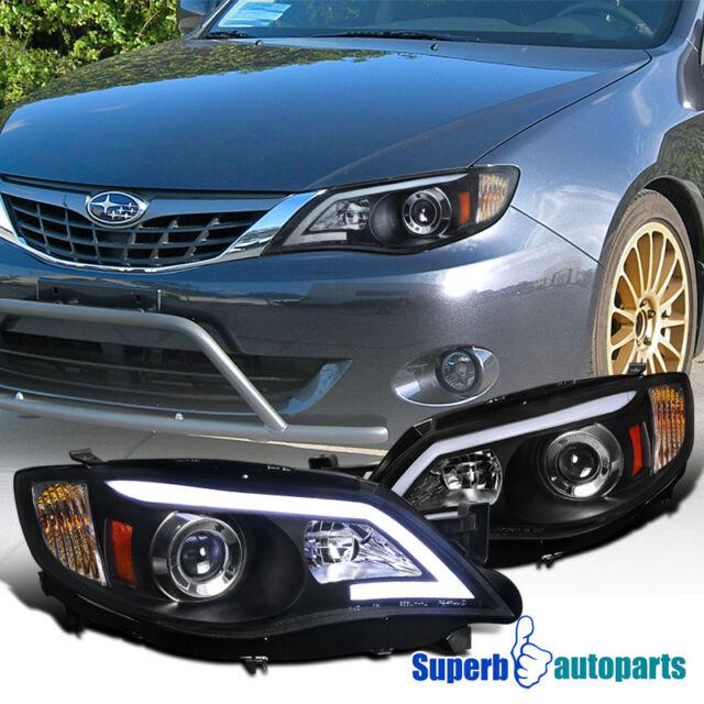 For 2008 2011 Subaru Impreza Outback Led Drl Projector Headlights