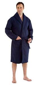 Hombre-Nino-Polar-Chal-Bata-Azul-Marino-L-XL