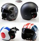 Viper Motorbike Open Face Jet Helmet Motorcycle Sun Visor Drop Down Matt Black