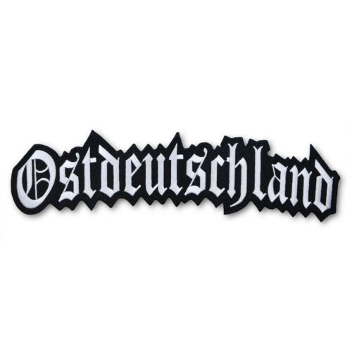 Aufnäher Aufbügler Ostdeutschland Osten DDR 13 cm Eastside altdeutsch Spruch