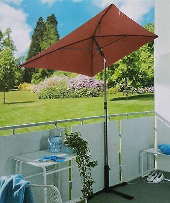 Sonnenschirm ROT 210x140 Gartenschirm FÜR BASTLER UV Schutz GARDENLINE