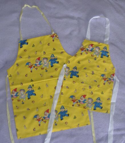 Childrens Yellow Noddy /& Friends Apron Age 4-6 or 6-8 years