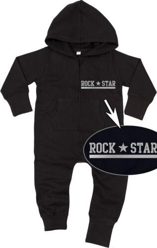 ROCK STAR SILVER Baby All-in-one Sweatsuit black