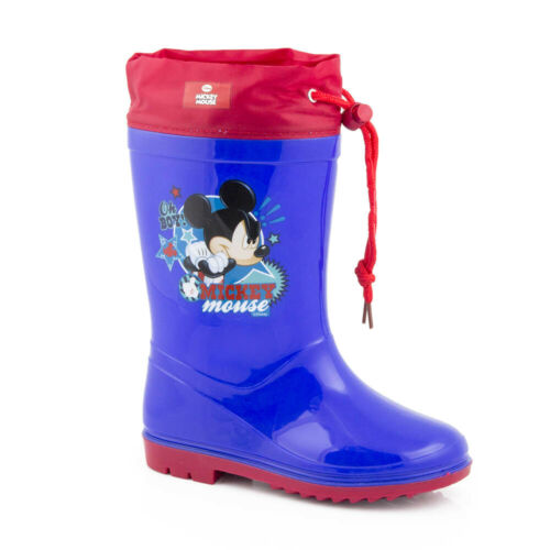 Waterproof Rain Boots Rubber Boots Boys Shoes Mickey Mouse 22-32 #G19