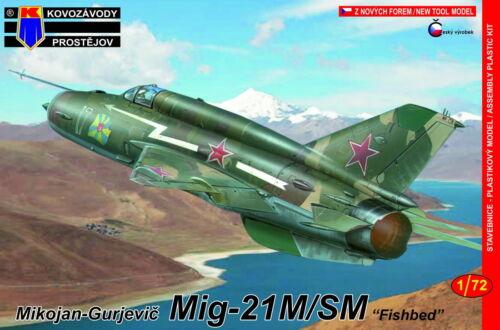 """Kovozavody Prostejov 1//72 Mikoyan MiG-21M//SM Fishbed /""""Soviet AF/"""" # 7298"""