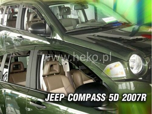 4 Deflettori Aria Antiturbo Jeep Compass 2007-2017 5 porte
