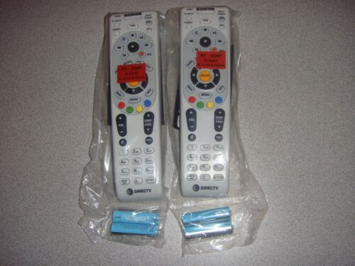 DIRECTV RC66RX LOT OF 2 IR//RF TWO NEW UNIVERSAL REMOTE CONTROL FREE BATTERIES