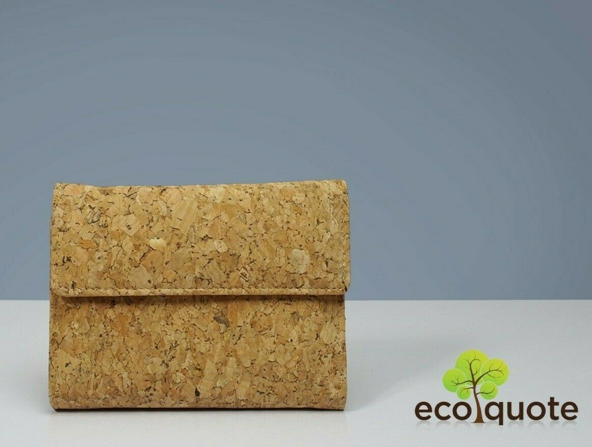 Cork Tri Fold In Wallet Handmade Eco-Friendly & Sustainable Material by EcoQuote