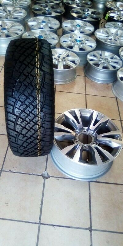 """18"""" Isuzu X-Rider mag with brand new 255/60/18 General Grabber AT to use for spare wheel R3600"""