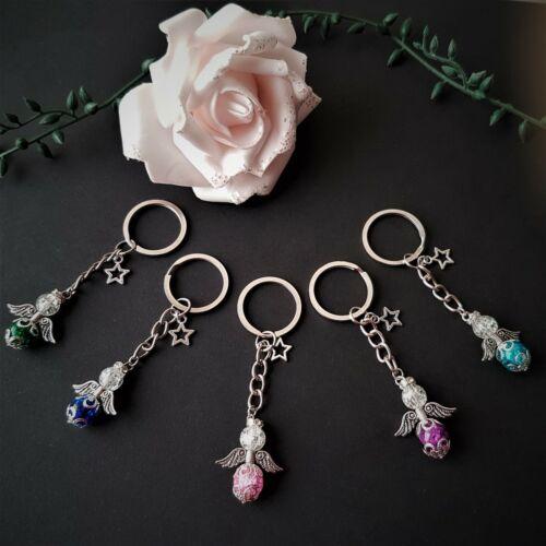 20 Schlüsselanhänger Schutzengel mit Stern Basteln Perlen Engel Bastelset 10 o