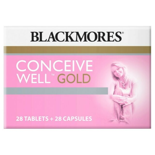 BLACKMORES CONCEIVE WELL GOLD 28 TABLETS + 28 CAPSULES 56 TOTAL PRE-CONCEPTION