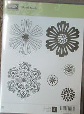 "Stampin Up Mixed Bunch set of 6 ""Retired"" Flowers clear Gently Used"