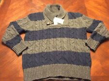 BNWOT Gap Kids Boys Stripe Knit Winter V Neck Pullover Sweater SIZE 2.3.4.5