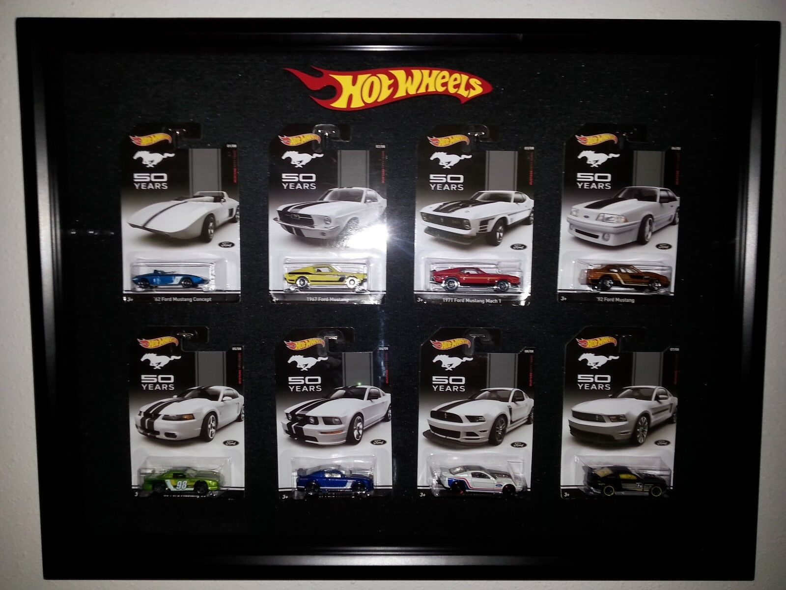 Hot Wheels Mustang 50 years set of 8 - Nice Display