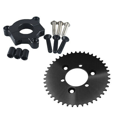 "CNC Black 44T Sprocket With 1.5/"" Adapter Fits 60cc,66cc Motorized Bike 415 Chain"