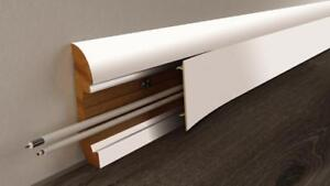 Details about Skirting Board Trunking for hidden wiring. MDF 65mm high on