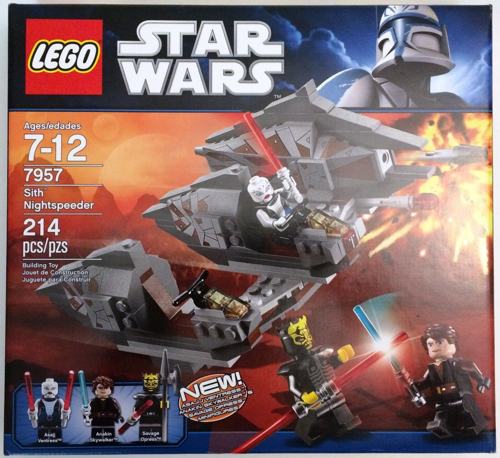 Lego Star Wars 7957 Sith Nightspeeder nuevo Savage Opress