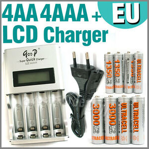 4-AA-4-AAA-1350-3000-mAh-Ultra-Quick-LCD-Rechargeab-le-battery-charger-EU