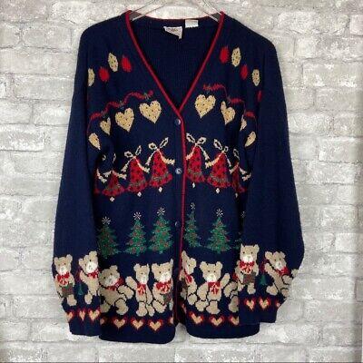 Vintage Nutcracker Ugly Christmas Sweater Cardigan | eBay