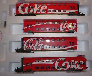 Rivarossi-H0-HR4660-4tlg-Doppelstockzug-Set-034-Coca-Cola-034-Ep-5-NEU-amp-OVP