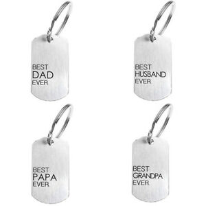 Fathers-Day-Keychain-Best-Dad-Ever-Key-Chain-Pendant-Stainless-Steel-Gift-PL