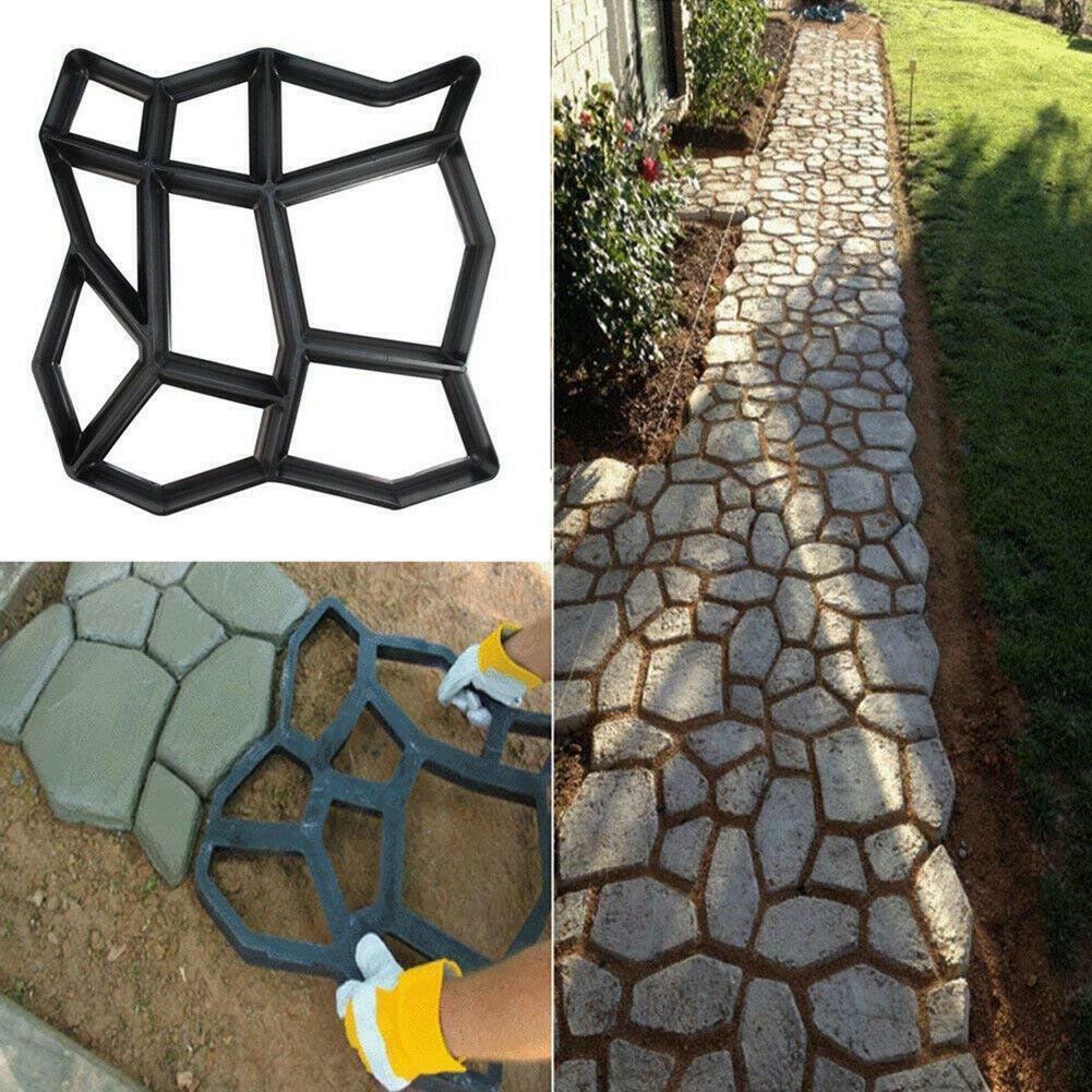 2 x Garden Driveway Paving Pavement Mold Patio Concrete Stone Path Maker