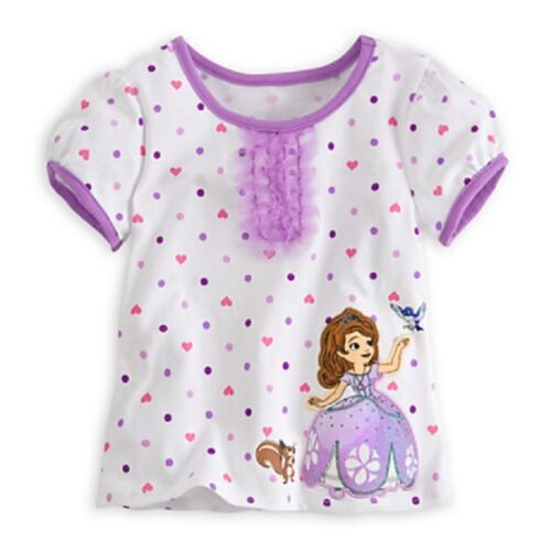 DISNEY STORE SOFIA FIRST TUTU /& TEE SET NWT PUFF SLEEVES TULLE DETAIL GLITTER