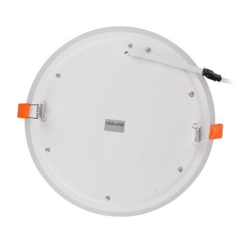 Ultra Slim 6W 9W 18W 24W Concealed Dual Color LED Ceiling Panel Light AC100-265V
