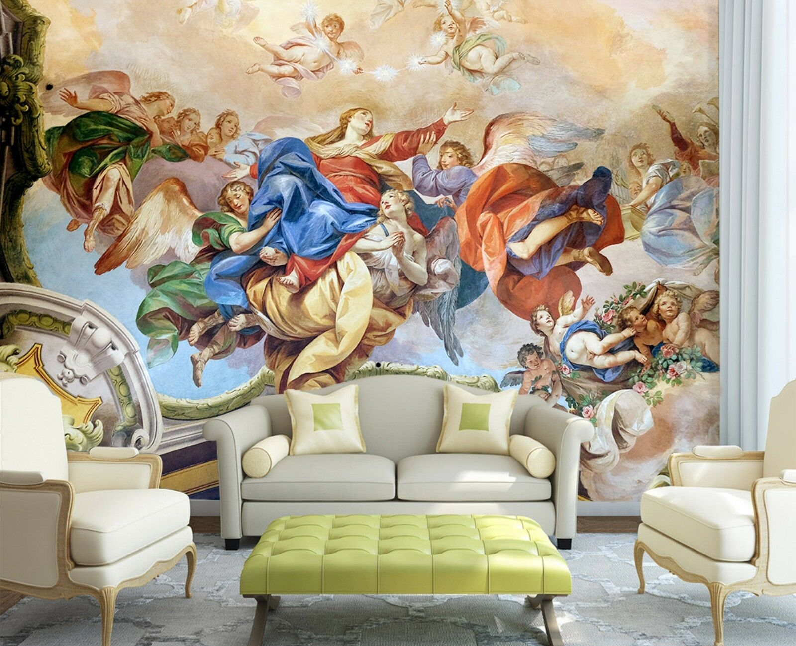 3D Classic Angel Church 77 Wallpaper Mural Print Wall Indoor Wallpaper Murals UK