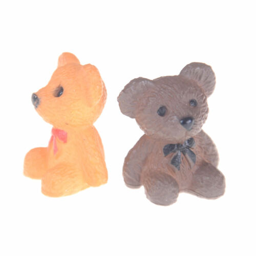 2PCS 1:12 1:6 Scale Sitting bear for Toy Doll Dollhouse Miniature Accessories~GN