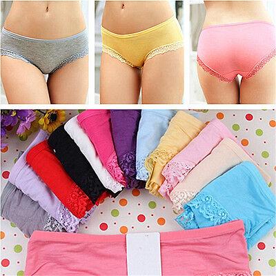Modal Women Lady Underwear Sexy Lace Briefs Panties Underpants Lingerie Knickers