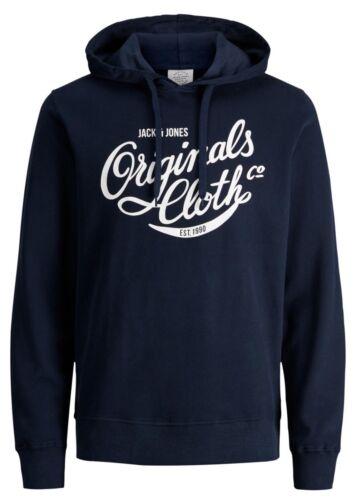 JACK /& JONES Originals Mens Blogger Overhead Hoodie Print Hooded Sweatshirt Top