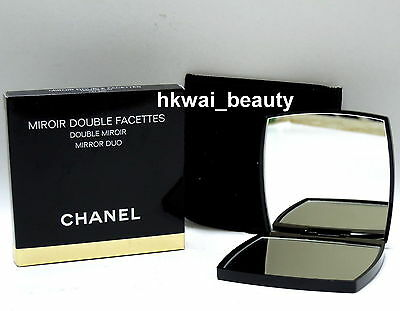 "Chanel 2.75"" Miroir Double Facettes Makeup Mirror Duo with Pouch Brand New"