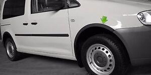 VW CADDY 2K Radlauf Zierleisten SCHWARZ MATT satz 4 Stück Vorne Hinten Bj 04-10