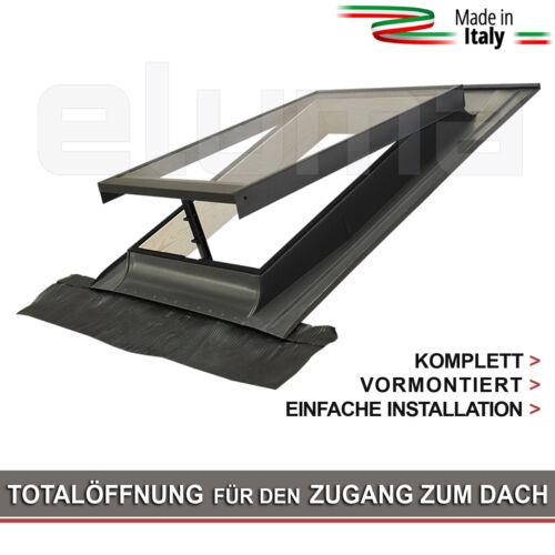 78x98 Breite x H/öhe modell CLASSIC VASISTAS//Dachfenster Eindeckrahmen//Oberlicht///Öffnung Art Velux//Doppelglas Ausstiegsfenster