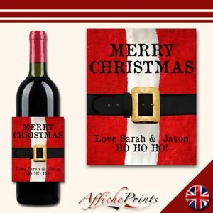 L88-Personalised-Merry-Christmas-Santa-Wine-Brut-Bottle-Label-Perfect-Gift