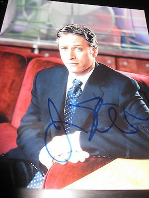 JON STEWART SIGNED AUTOGRAPH 8x10 PHOTO THE DAILY SHOW COMEDY CENTRAL PROMO NY F