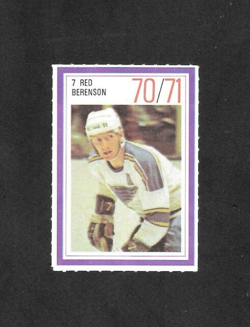 1970-71  ESSO POWER PLAYER , RED BERENSON , ST. LOUIS BLUES