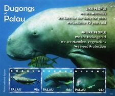Dugongs of Palau (Sea Cows / Mammals) Endangered Species Stamp Sheet (2010)