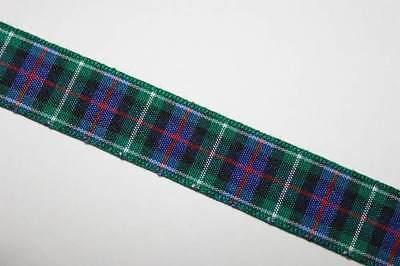 1 Meter of 25mm Hunting Cornish Tartan Ribbon