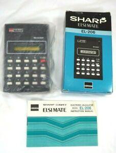 Sharp EISIMate Calculator No. EL-206 w/ Original Box & Instructions NIP Japan