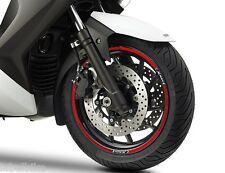 SET TIRAS ADHESIVO para ruedas compatible para YAMAHA X MAX scooter XMAX 400