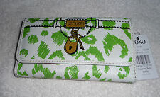 NWT Original XOXO Clutch Checkbook Wallet Lock & Key Design Eye Spy