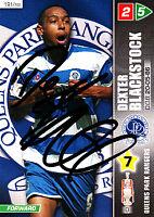 Queens Park Rangers F.C  Blackstock Hand Signed Championship 2008 Panini Card