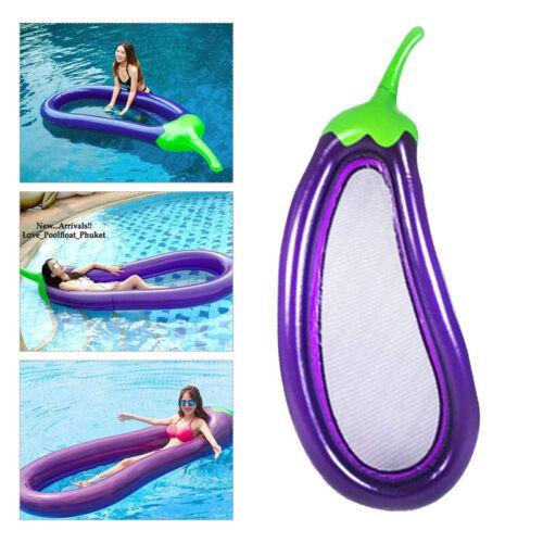 Aufblasbare Aubergine Wasser Hängematte Luftmatratze Schwimmliege Lounge Neu